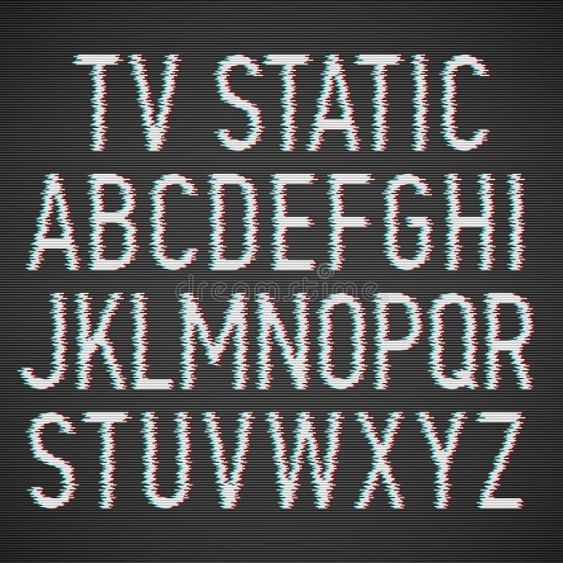 Шрифт влияния ТВ статический бесплатная иллюстрация
