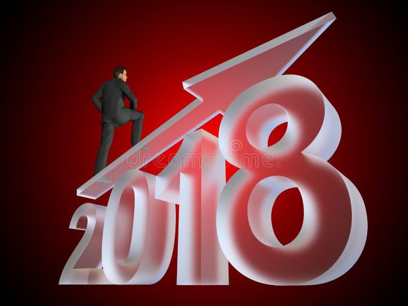 шрифт заморозка стеклянного года льда 2018 белый на красном цвете бесплатная иллюстрация
