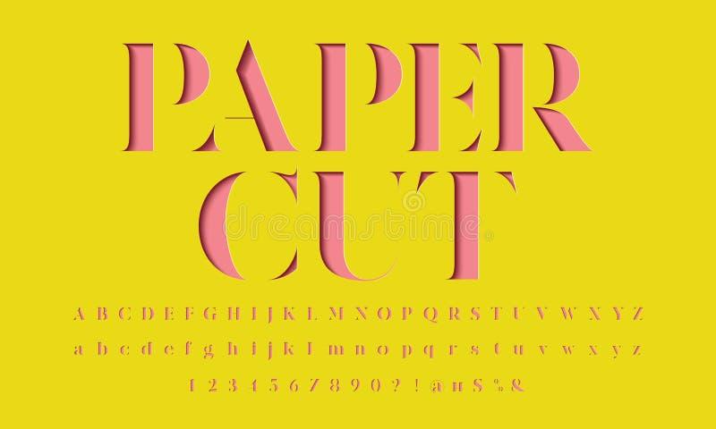 Шрифт отрезка бумаги иллюстрация штока