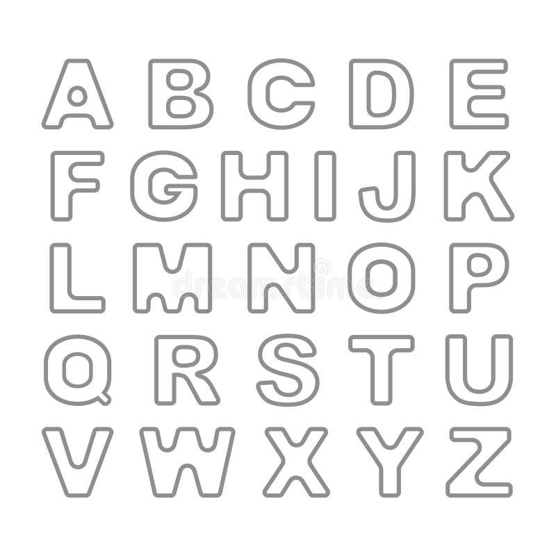 Шрифт плана смелейший винтажный ретро вектор иллюстрация штока
