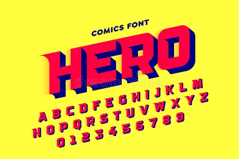 Шрифт стиля комиксов стоковое фото rf