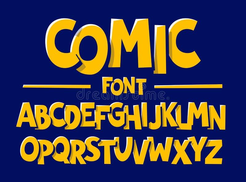 Шрифт стиля комиксов иллюстрация вектора