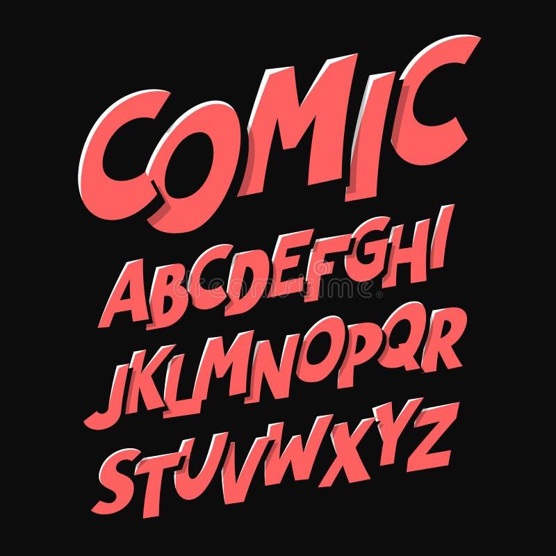 Шрифт стиля комиксов бесплатная иллюстрация