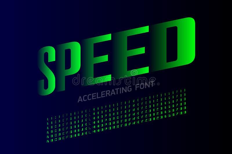 Шрифт стиля скорости современный иллюстрация штока