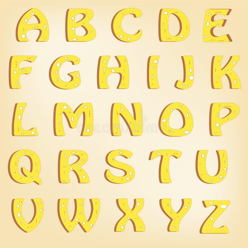 Шрифт сыра иллюстрация вектора