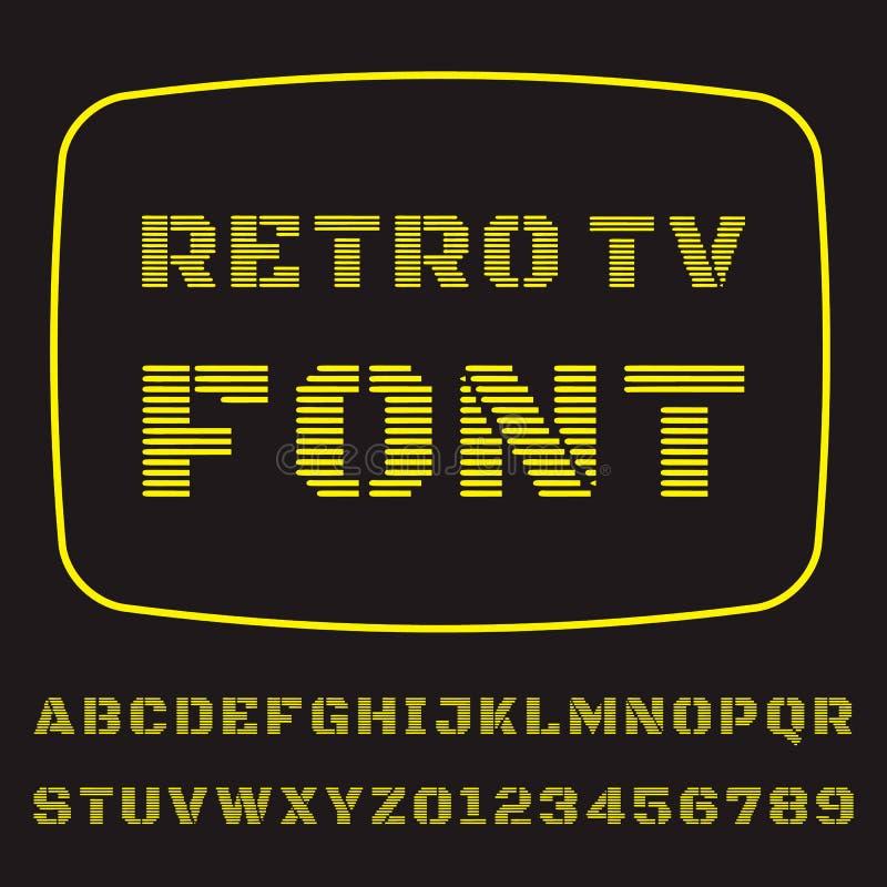 Шрифт ТВ бесплатная иллюстрация