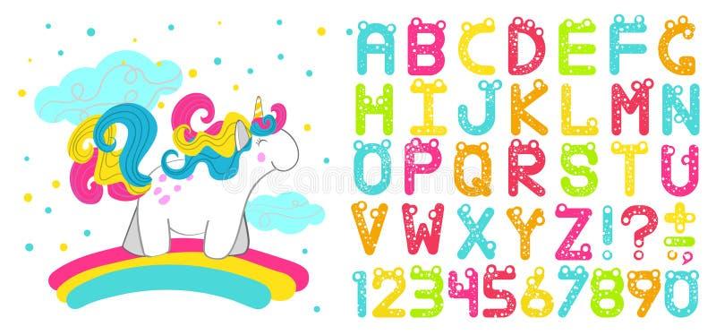 Шрифт ` s детей вектора стоковые изображения rf