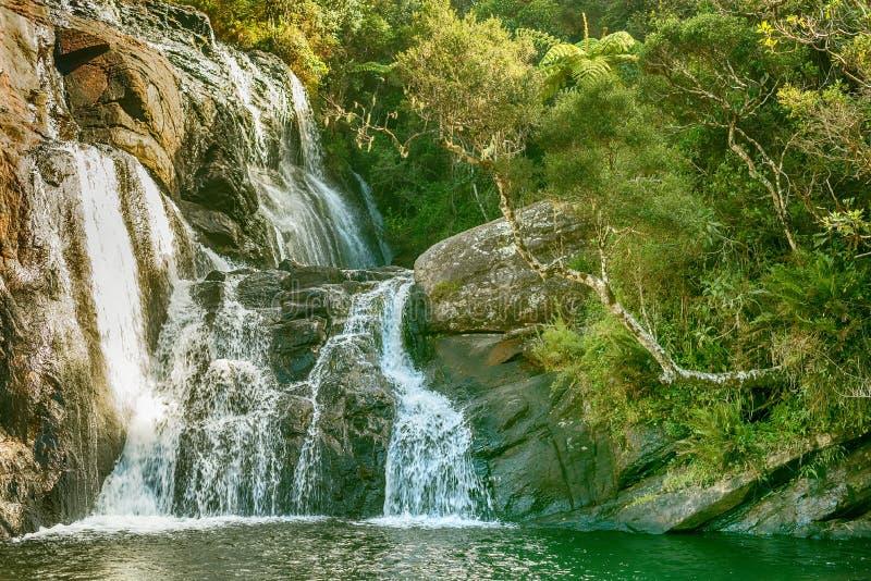 Шри-Ланка: ` S хлебопека падает в национальный парк равнин Horton стоковая фотография