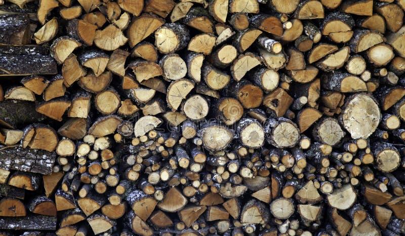 Штабелированная древесина журналов стоковое изображение
