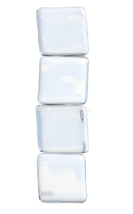 Штабелированные кубики льда стоковые фотографии rf