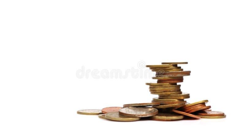 штабелированные монетки стоковое фото rf