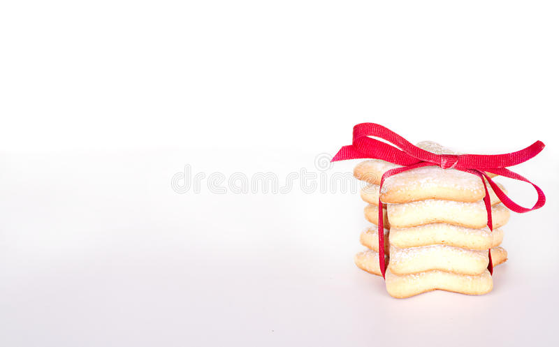 Штабелированные печенья Кристмас стоковые изображения rf