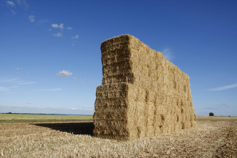 Штабелированные bales сена стоковое фото rf