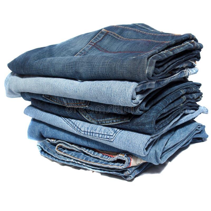 Штабелированные сложенные джинсы стоковое изображение