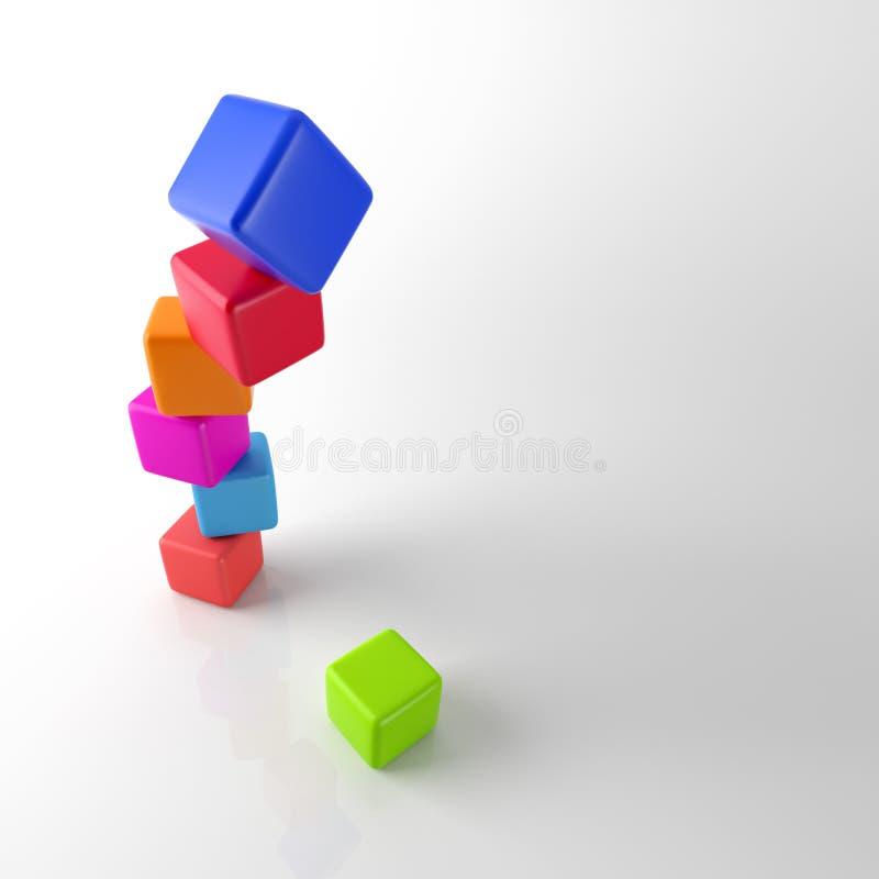Штабелировать красочные кубы иллюстрация вектора