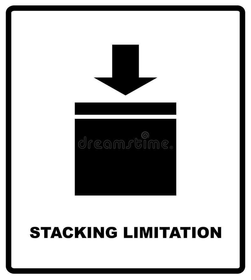 Штабелировать ограничение символом массового вектора упаковывая на предпосылке картона вектора Регулировать метку на бумаге ремес бесплатная иллюстрация