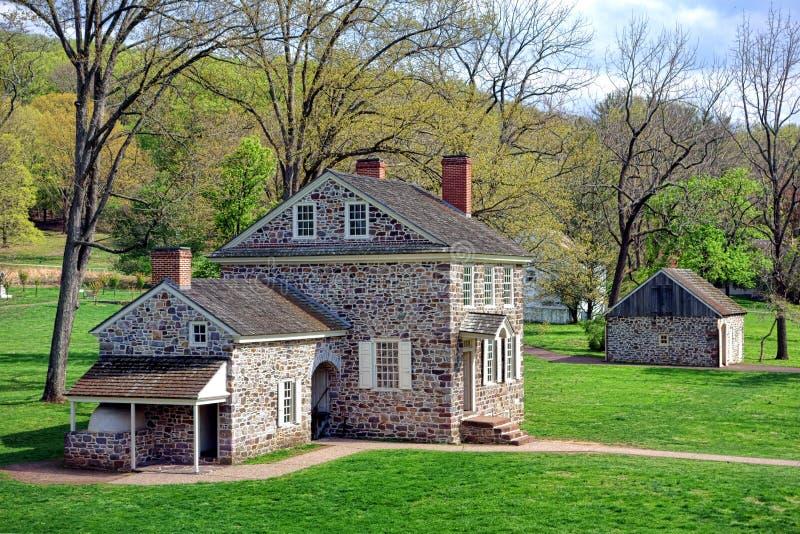 Штабы Джорджа Вашингтона на кузнице долины стоковое изображение rf