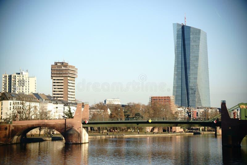Штабы Европейского Центрального Банка стоковые изображения