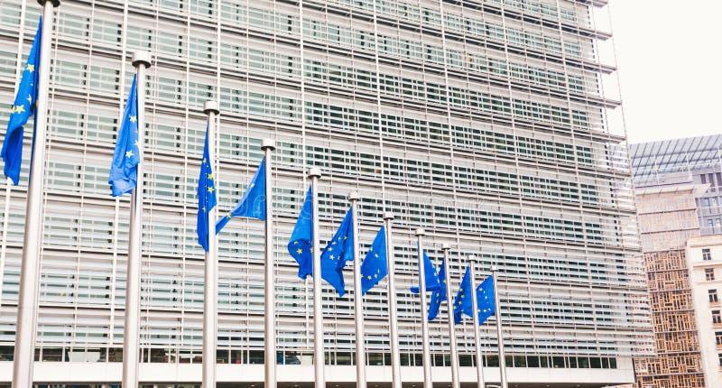 Штабы европейской комиссии в Брюсселе, Бельгии стоковое фото rf