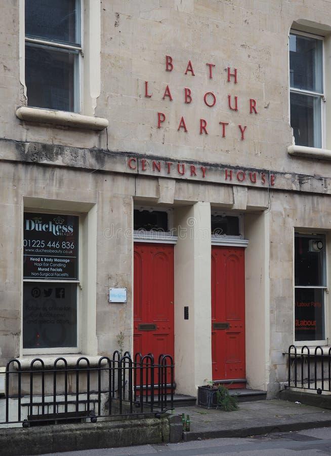 Штабы лейбористской партии в ванне стоковые фото