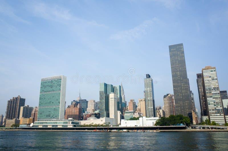 Штабы Организации Объединенных Наций ООН сложные и смежное Манхаттан sk стоковые изображения rf