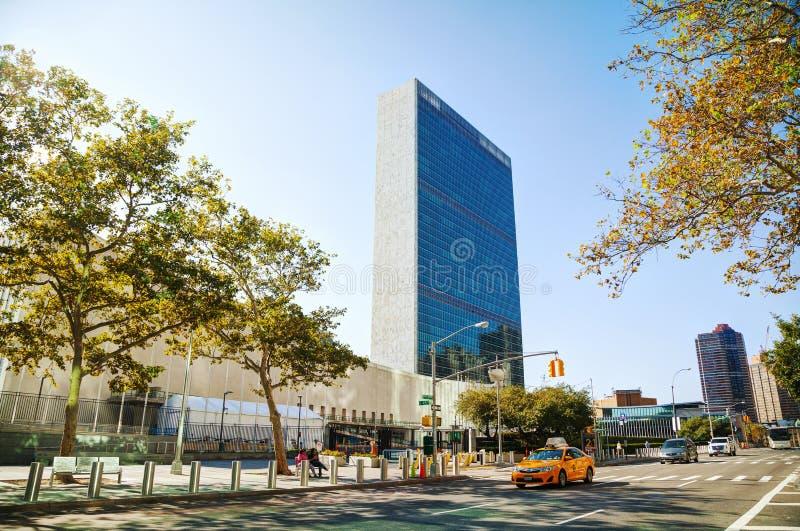 Штабы Организации Объединенных Наций строя в Нью-Йорке стоковые изображения