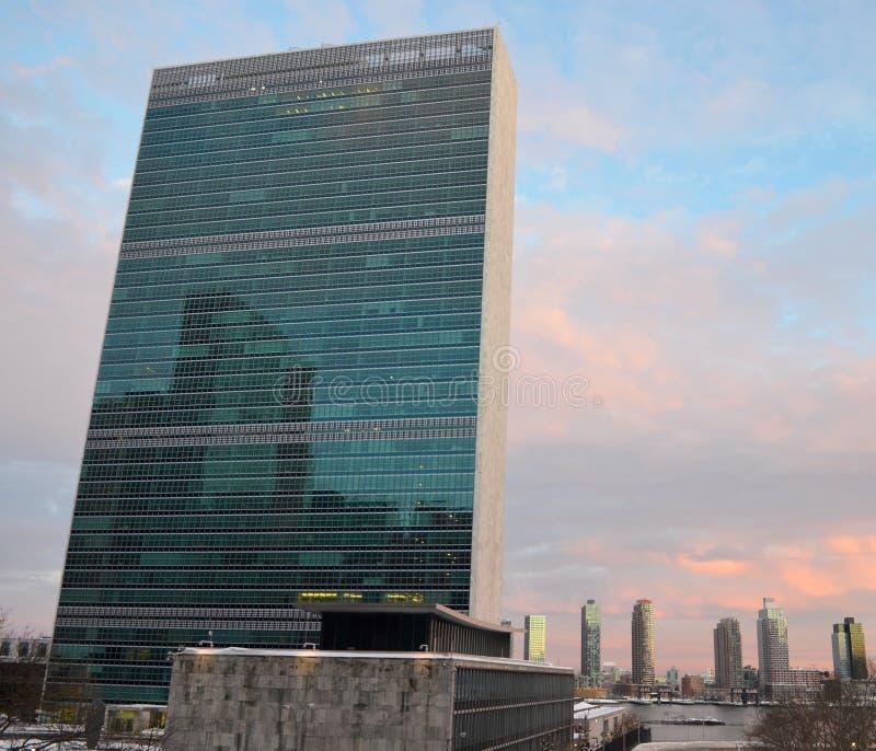 Штабы Организации Объединенных Наций, NYC стоковые фото