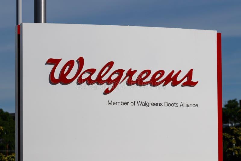 Штабы союзничества ботинок Walgreens WBA сводило воедино Walgreens и фармацевтическую продукцию ботинок союзничества x стоковое фото