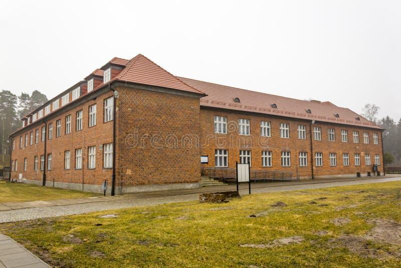 Штабы строя в KL Stutthof, Польше стоковая фотография rf