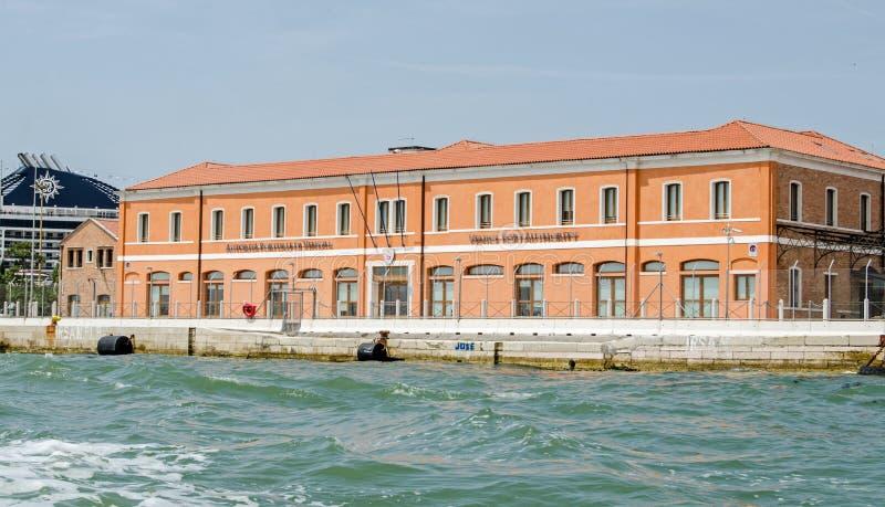 Штабы управления порта Венеции стоковое изображение rf