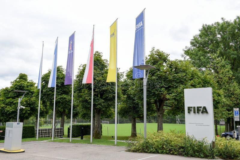 Штабы ФИФА на Цюрихе на Швейцарии стоковое фото
