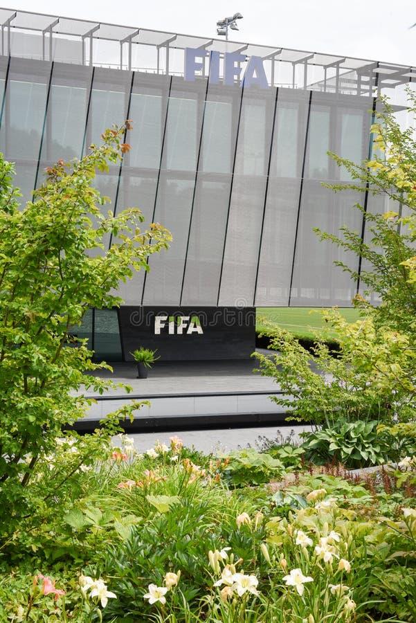 Штабы ФИФА на Цюрихе на Швейцарии стоковые изображения rf