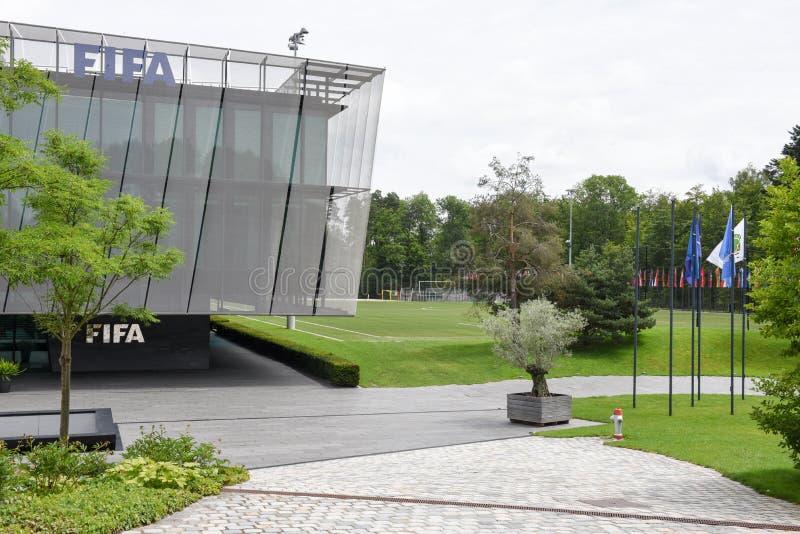 Штабы ФИФА на Цюрихе на Швейцарии стоковое фото rf