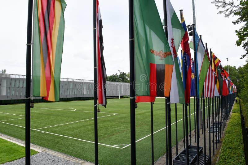 Штабы ФИФА на Цюрихе на Швейцарии стоковые изображения