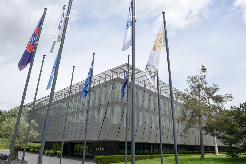 Штабы ФИФА на Цюрихе на Швейцарии стоковое изображение rf
