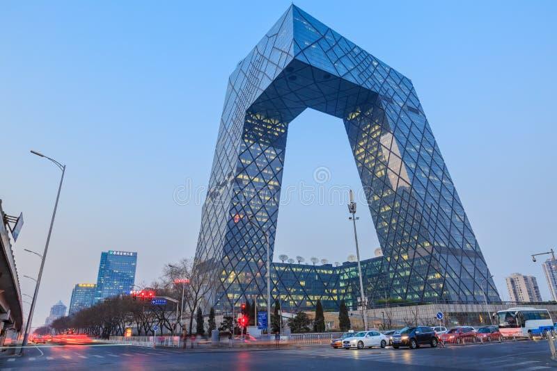 Штабы центрального телевидения Китая (CCTV) в ПЕКИНЕ стоковое фото rf