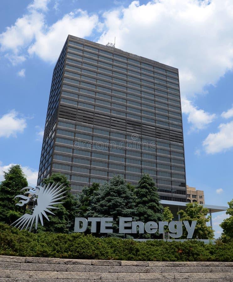 Штабы энергии DTE в Детройте стоковые фото
