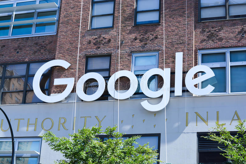 Штабы Google в Манхаттане стоковые изображения rf