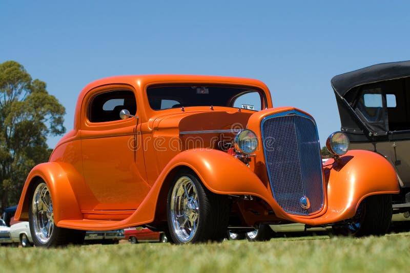 штанга автомобиля горячая померанцовая стоковая фотография