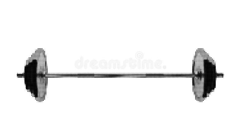 Штанга белизна изолированная предпосылкой также вектор иллюстрации притяжки corel бесплатная иллюстрация