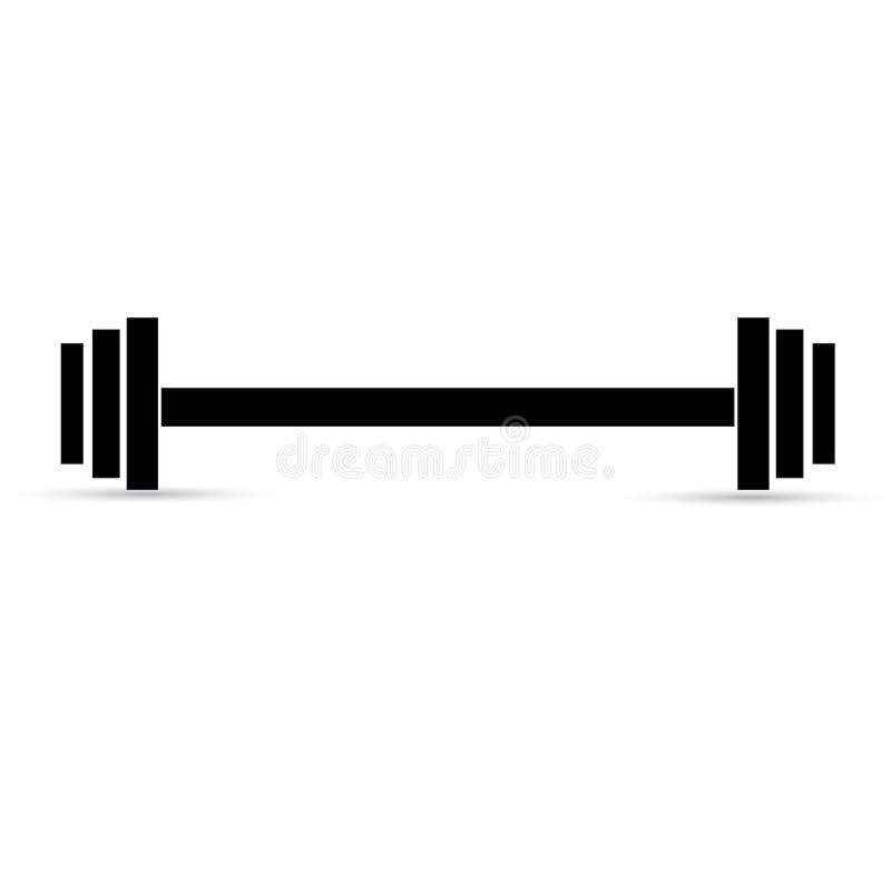 Штанга поднятия тяжестей на белой предпосылке иллюстрация штока