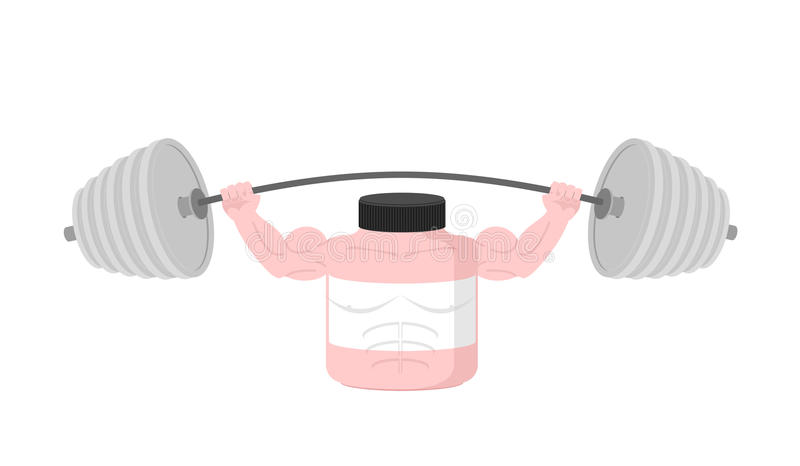 Штанга розовой прессы питания спорт контейнера надземная вектор иллюстрация вектора