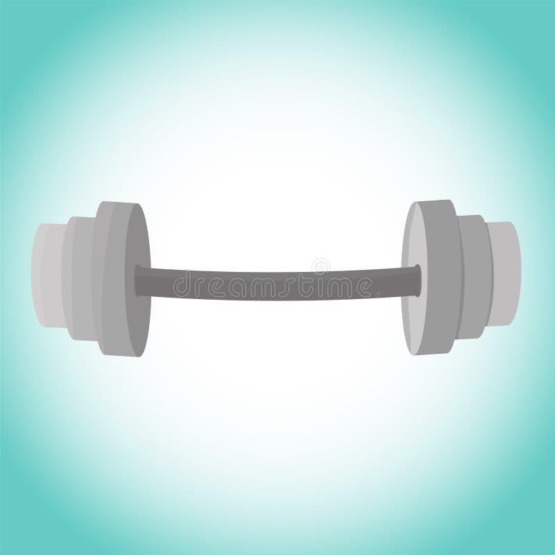 Штанга фитнеса изображения вектора Значок гантели, тренировок с w иллюстрация вектора
