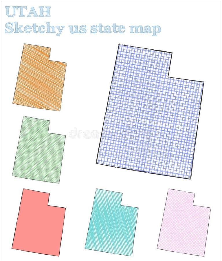 Штат США Юты схематичный иллюстрация штока