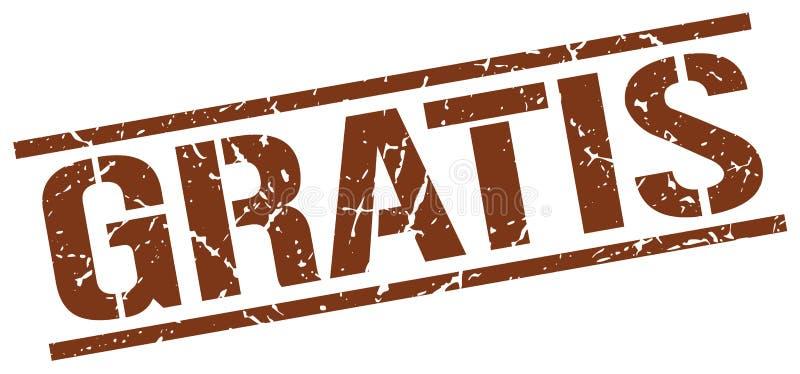 Штемпель бесплатно коричневого квадрата grunge винтажный иллюстрация вектора