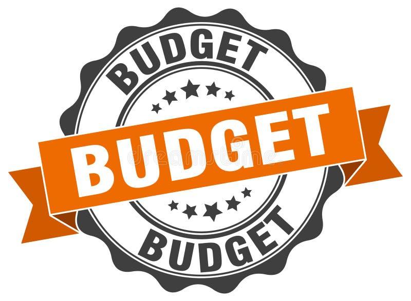 Штемпель бюджета Знак уплотнение иллюстрация вектора