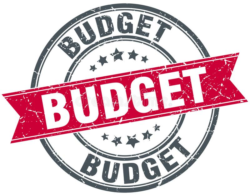Штемпель бюджета иллюстрация штока