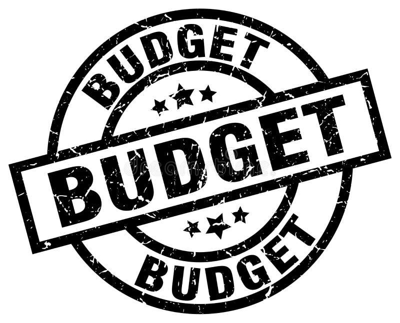 Штемпель бюджета иллюстрация вектора