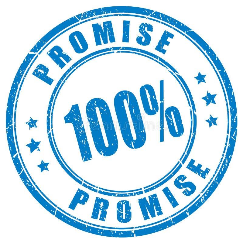 Штемпель вектора обещания резиновый иллюстрация штока