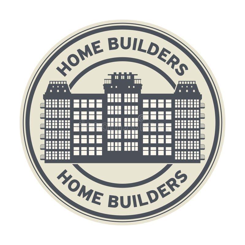 Штемпель или знак построителей дома бесплатная иллюстрация